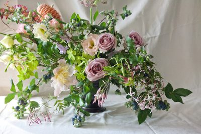 Floral Arrangements with James's Daughter: A Wild and Romantic Display