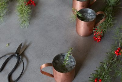 New Year's Eve Cocktail Idea: Rosemary Moscow Mules