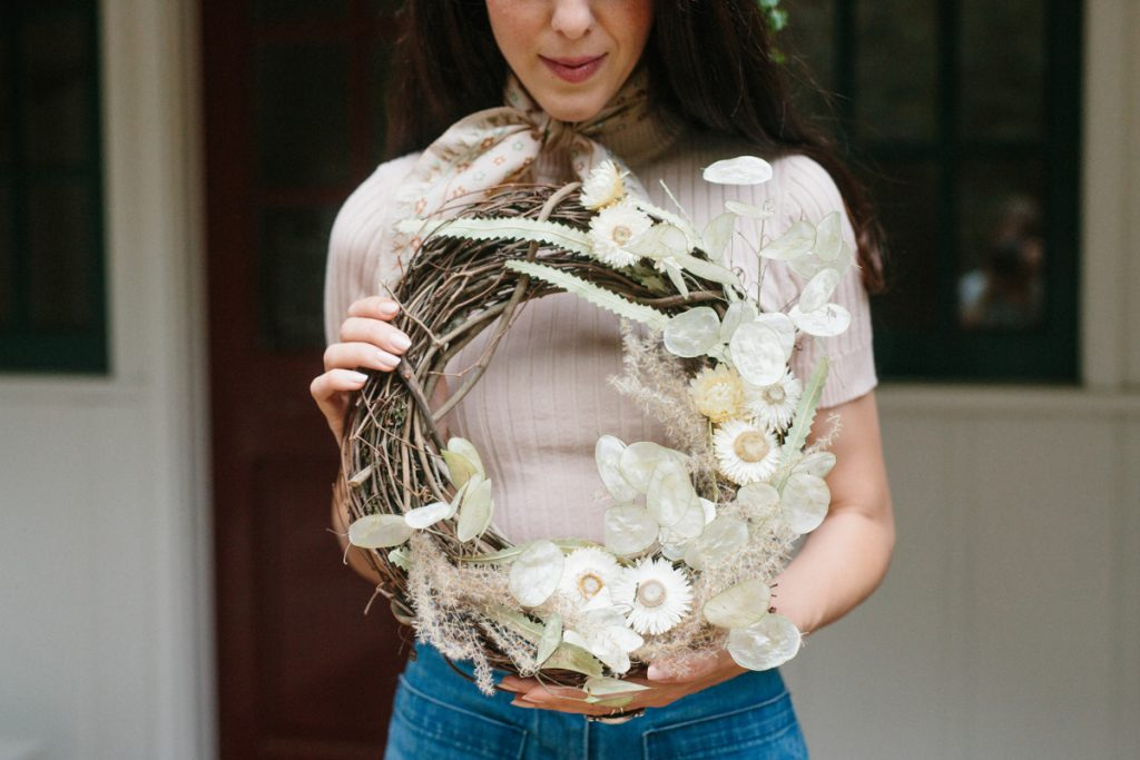 A Winter Wreath Tutorial with Yasmine Mei