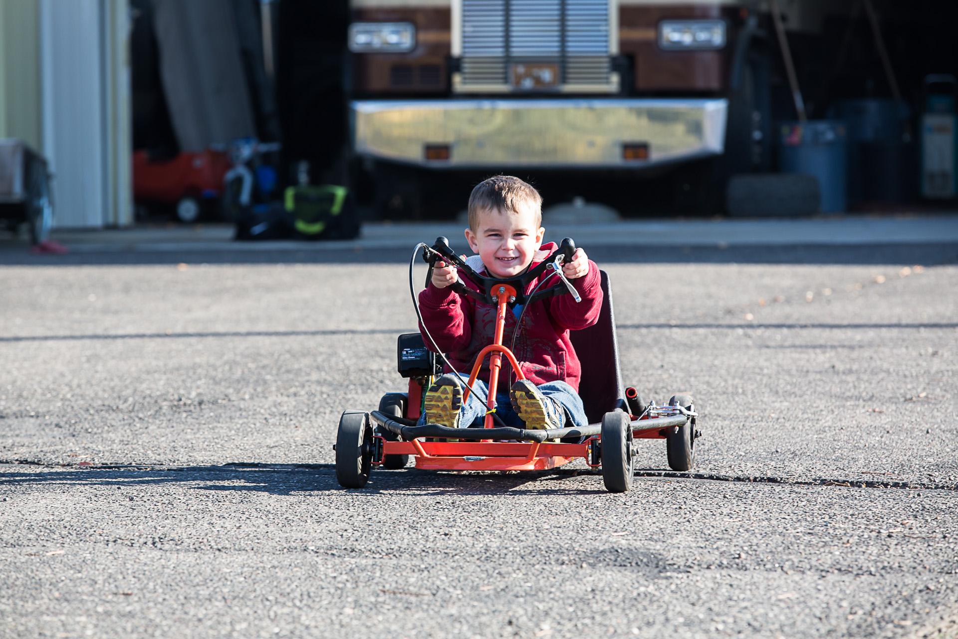 Liam Go-kart Christmas 2013
