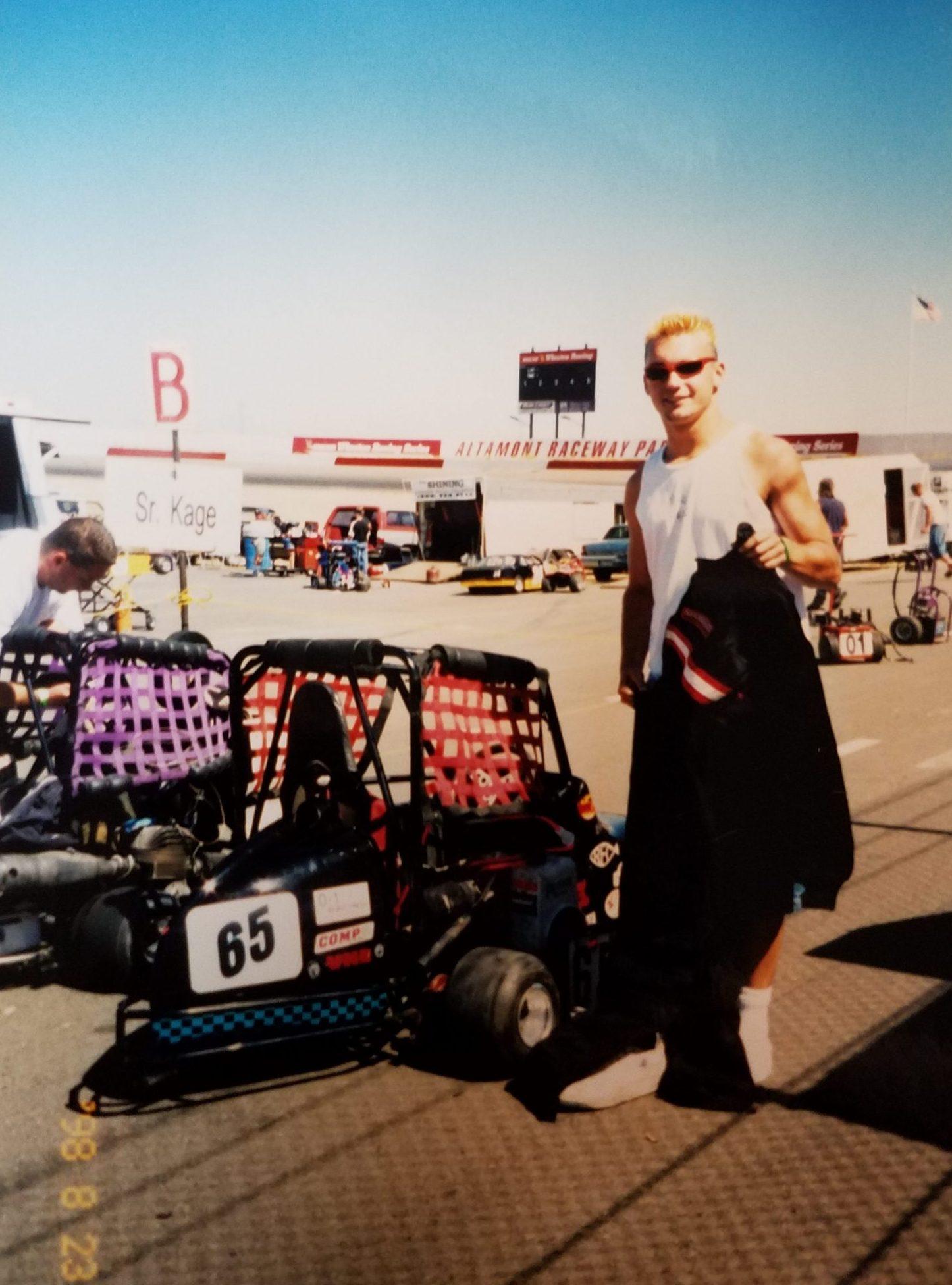 Jerad Hill Kart Racing Altamont Speedway 1998