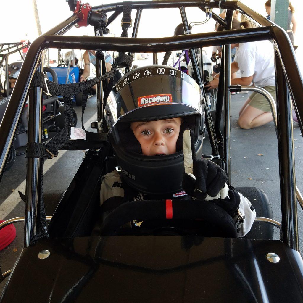 Liam Hill - Quarter Midget Racer Age 6