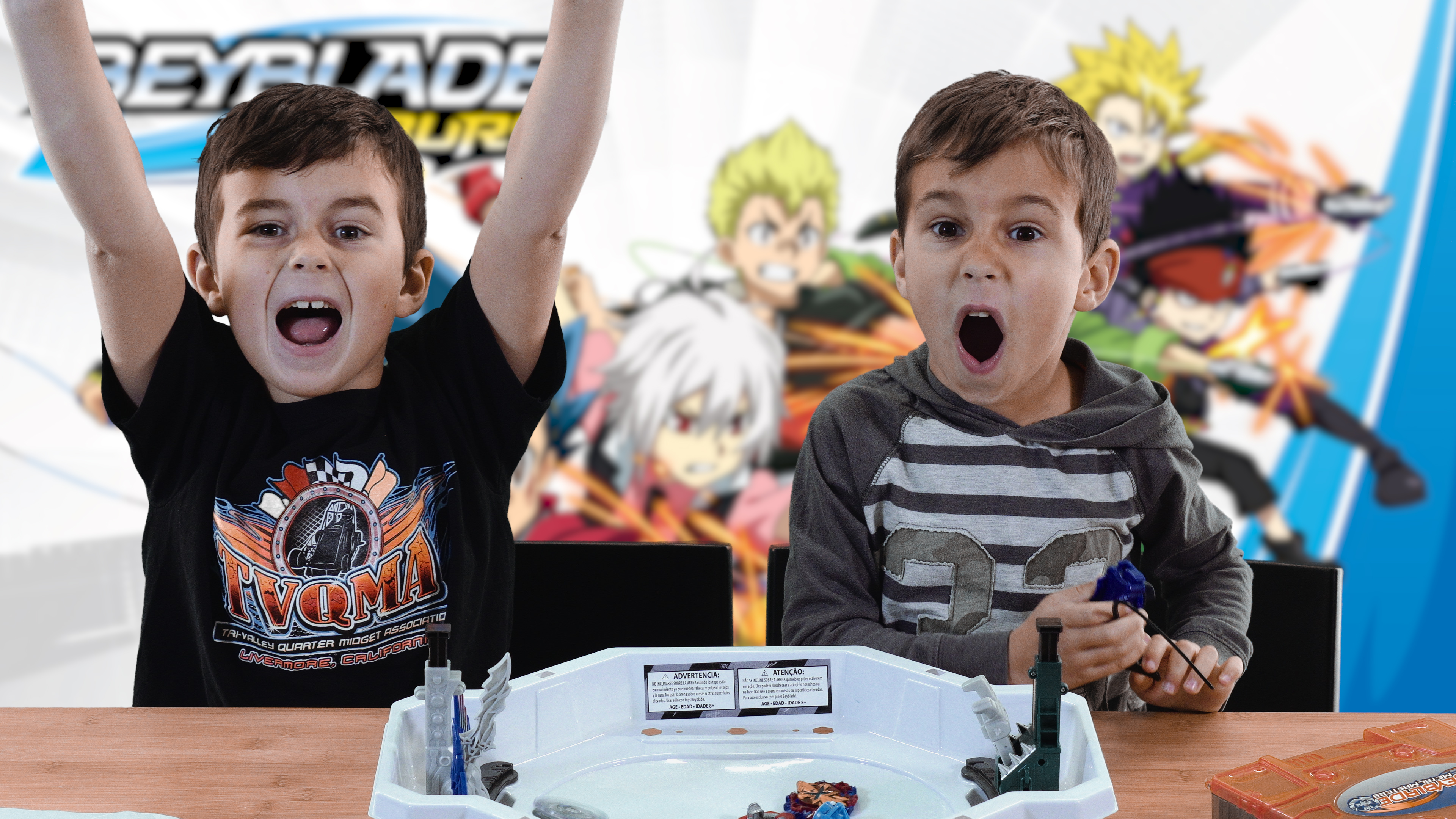 Brothers BeyBlade Battle - Evipero vs Evipero E2 & Xcalius vs Betromoth