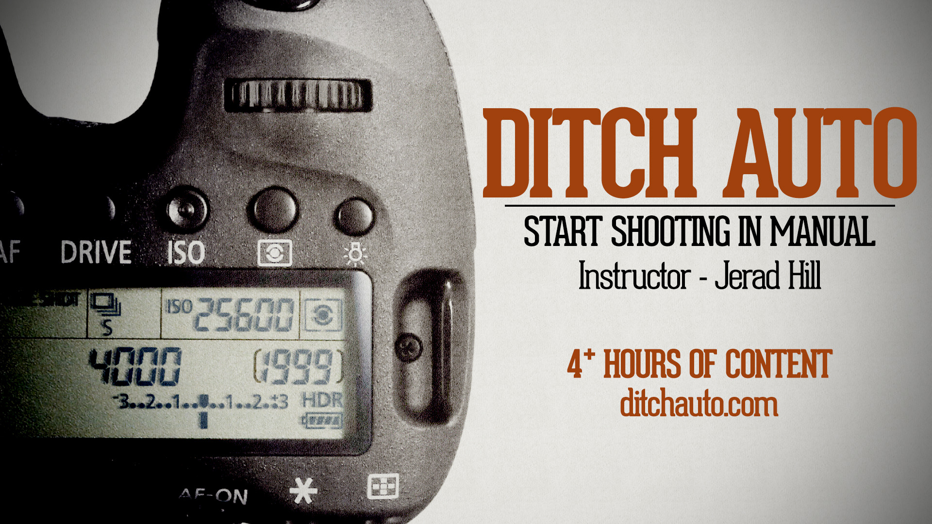 Ditch Auto - Learn To Shoot in Manual