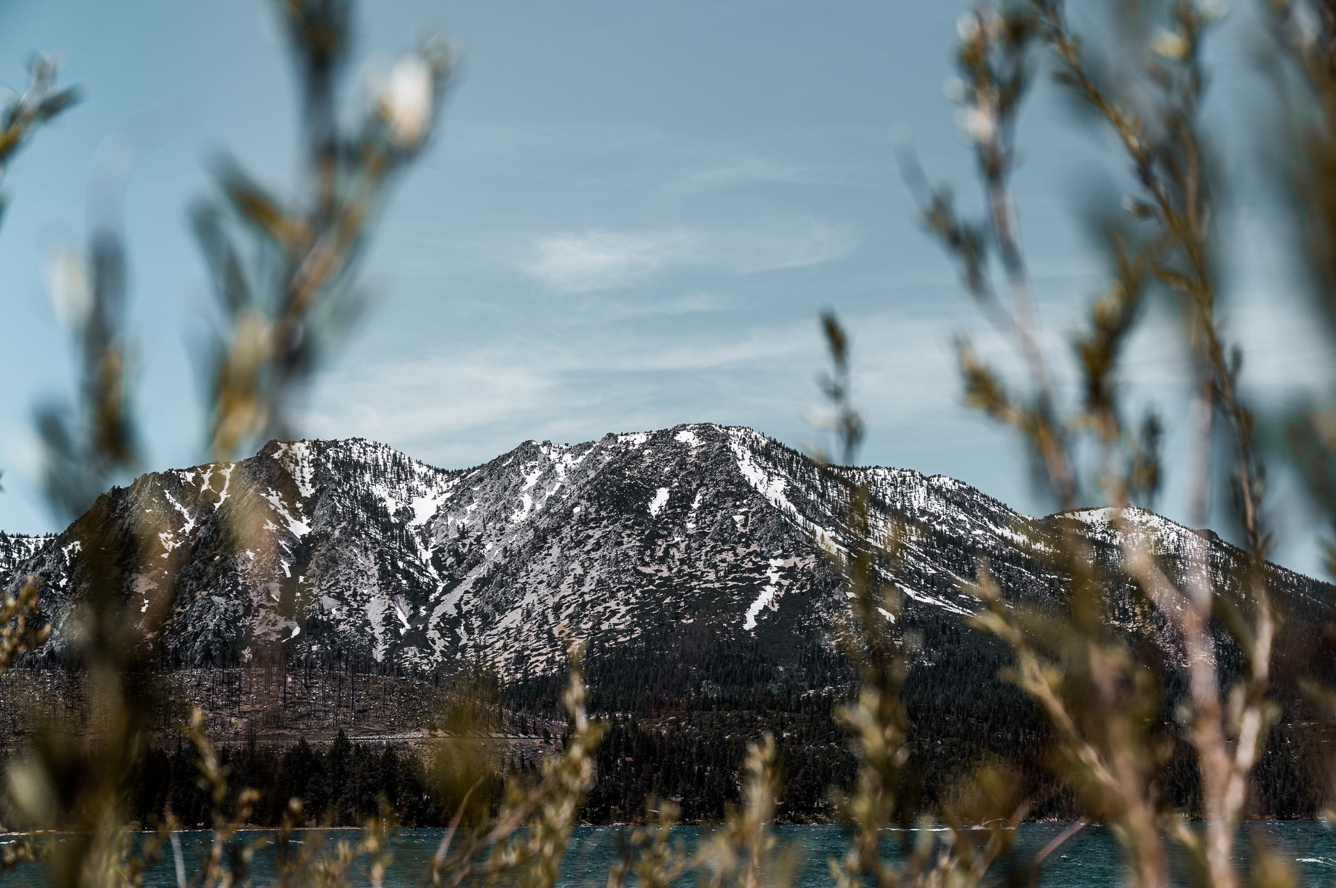 View of Mountains from South Lake Tahoe