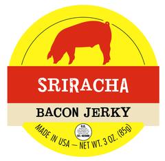 Sriracha Bacon Jerky - 1 Pound Bag