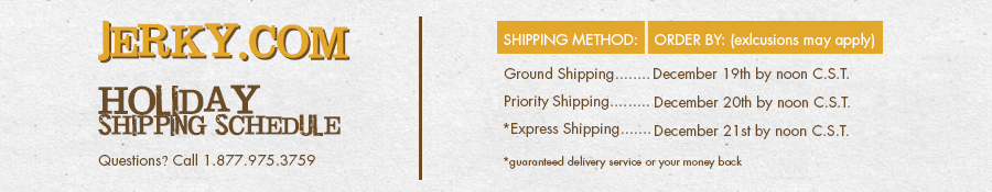 holiday shipping schedule 2016