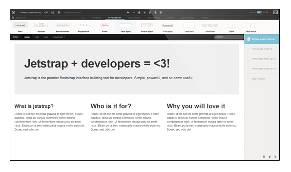 Jetstrap - The Bootstrap Interface Builder