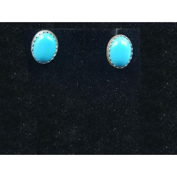 Sleeping Beauty Turquoise Stud Earrings  Adair Jewelers  Missoula, MT