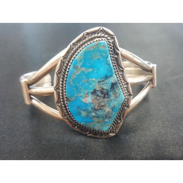 Peter Yazzie Turquoise Mountain Bracelet Adair Jewelers  Missoula, MT
