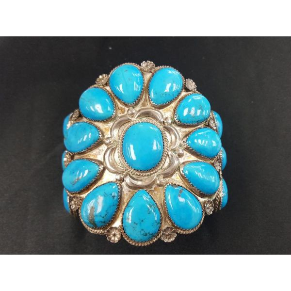 Navajo Sleeping Beauty Turquoise Bracelet  Adair Jewelers  Missoula, MT