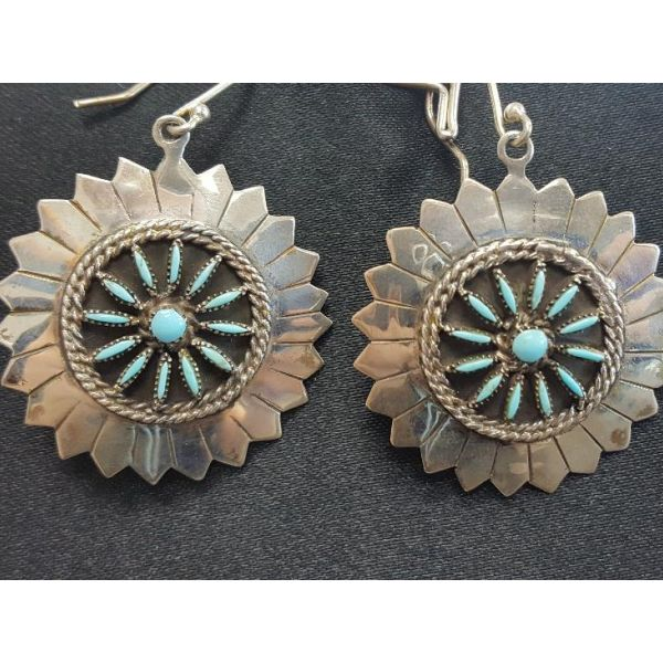 Zuni Old Pawn Earrings Adair Jewelers  Missoula, MT