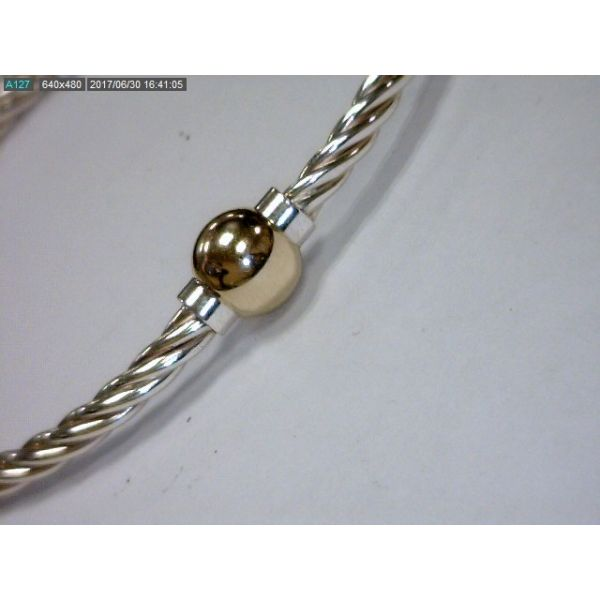 Gold Single Ball Twist Bracelet Avitabile Fine Jewelers Hanover, MA