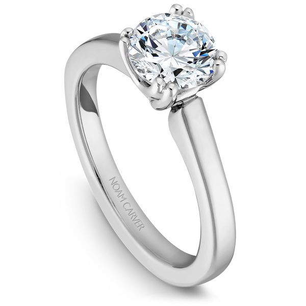 White White Gold Engagement Ring With A Round Centerpiece. Image 2 Barron's Fine Jewelry Snellville, GA