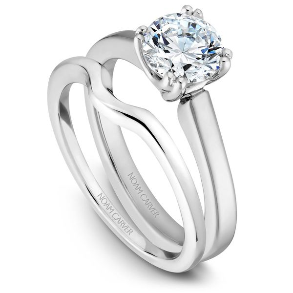 White White Gold Engagement Ring With A Round Centerpiece. Image 3 Barron's Fine Jewelry Snellville, GA
