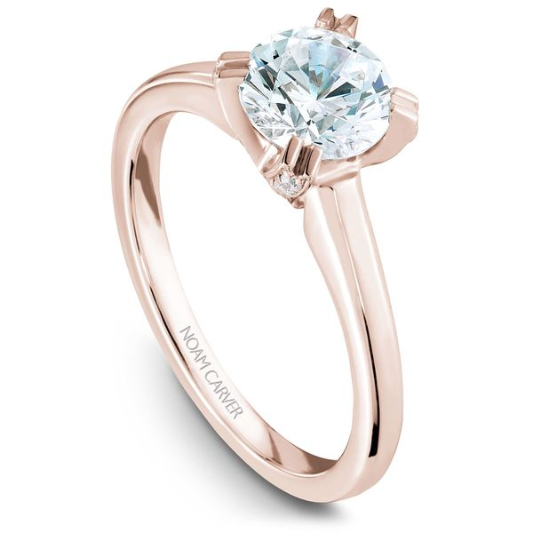 Rose Gold Engagement Ring With A Round Centerpiece 26 Diamonds. Image 2 Barron's Fine Jewelry Snellville, GA