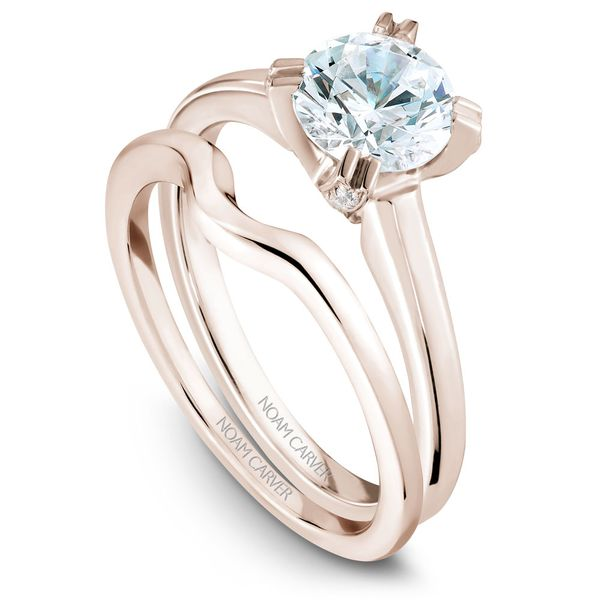 Rose Gold Engagement Ring With A Round Centerpiece 26 Diamonds. Image 3 Barron's Fine Jewelry Snellville, GA
