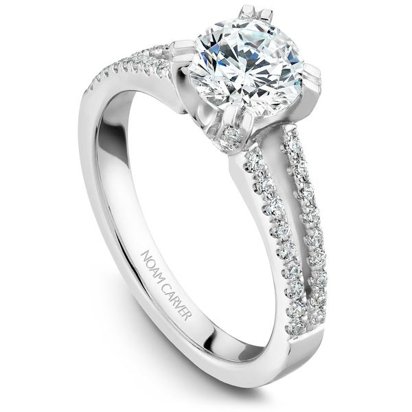 White Gold Engagement Ring With 62 Diamonds. Image 2 Barron's Fine Jewelry Snellville, GA