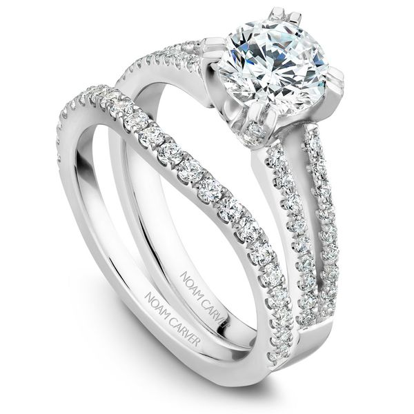 White Gold Engagement Ring With 62 Diamonds. Image 3 Barron's Fine Jewelry Snellville, GA