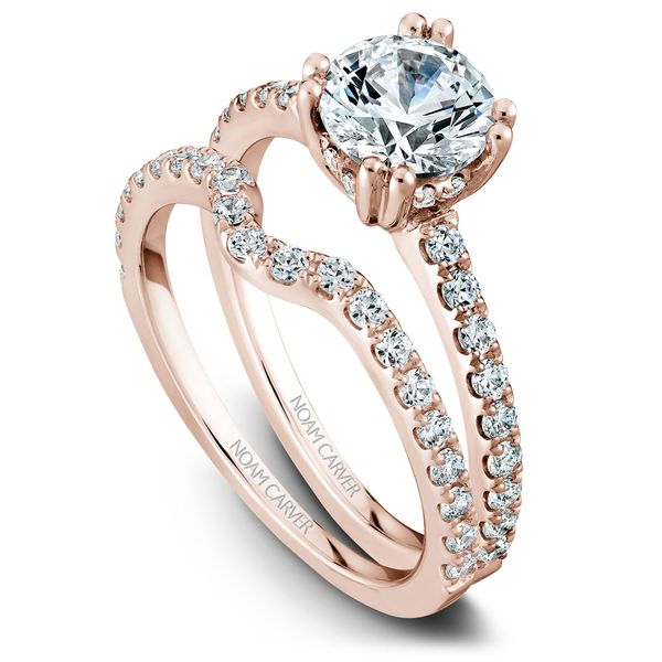 Rose Gold Engagement Ring With 26 Diamonds. Image 3 Barron's Fine Jewelry Snellville, GA