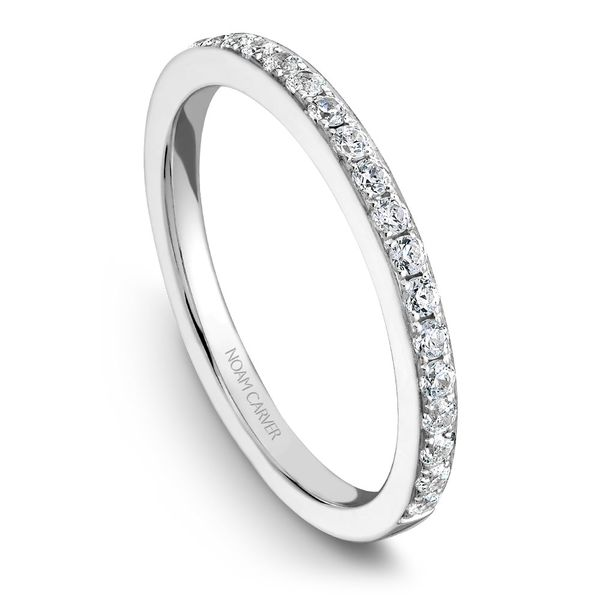 White Gold Engagement Ring With 14 Diamonds. Image 5  ,