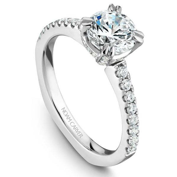 White Gold Engagement Ring With 52 Diamonds. Image 2  ,