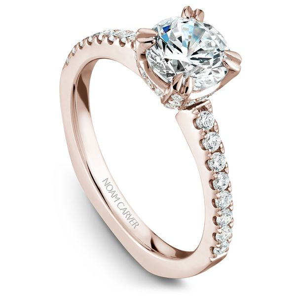 Rose Gold Engagement Ring With 52 Diamonds. Image 2 Barron's Fine Jewelry Snellville, GA