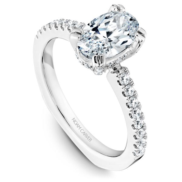 White Gold Engagement Ring With An Oval Centerpiece And 52 Diamonds. Image 2 Barron's Fine Jewelry Snellville, GA