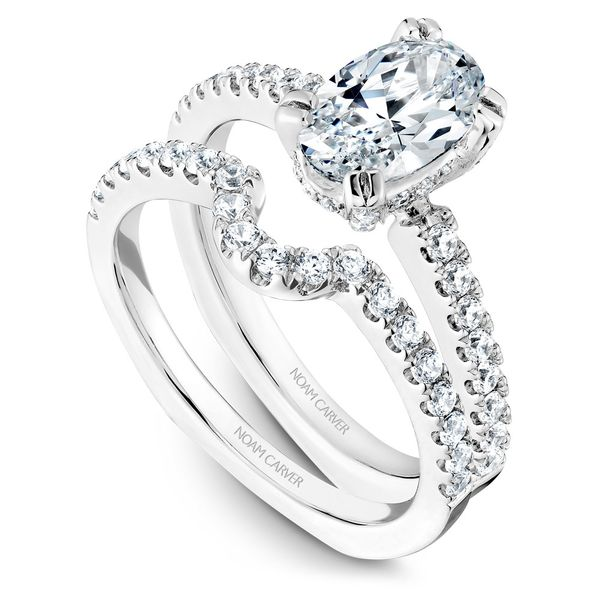 White Gold Engagement Ring With An Oval Centerpiece And 52 Diamonds. Image 3 Barron's Fine Jewelry Snellville, GA