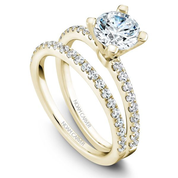 Yellow Gold Engagement Ring With 18 Diamonds. Image 3 Barron's Fine Jewelry Snellville, GA