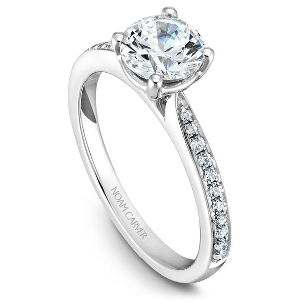 White Gold Engagement Ring With 22 Diamonds. Image 4 Barron's Fine Jewelry Snellville, GA