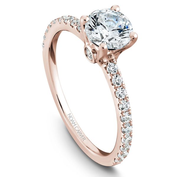 Rose Gold Engagement Ring With 22 Diamonds. Image 4 Barron's Fine Jewelry Snellville, GA