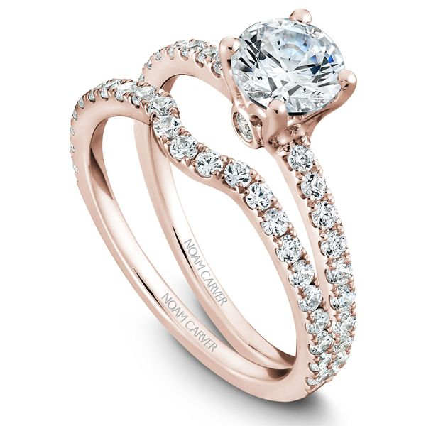 Rose Gold Engagement Ring With 22 Diamonds. Image 3 Barron's Fine Jewelry Snellville, GA