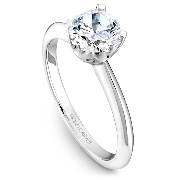 White Gold Engagement Ring With A Round Centerpiece. Image 4 Barron's Fine Jewelry Snellville, GA