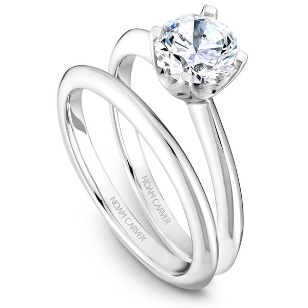 White Gold Engagement Ring With A Round Centerpiece. Image 3 Barron's Fine Jewelry Snellville, GA