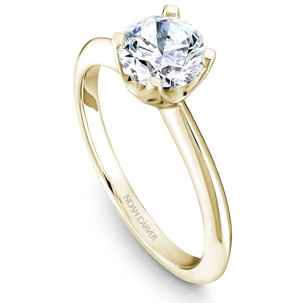 Yellow Gold Engagement Ring With A Round Centerpiece. Image 4 Barron's Fine Jewelry Snellville, GA