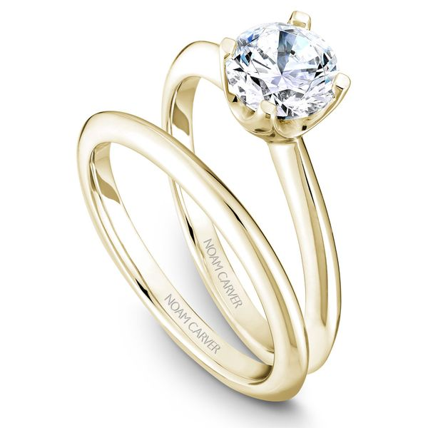 Yellow Gold Engagement Ring With A Round Centerpiece. Image 3 Barron's Fine Jewelry Snellville, GA