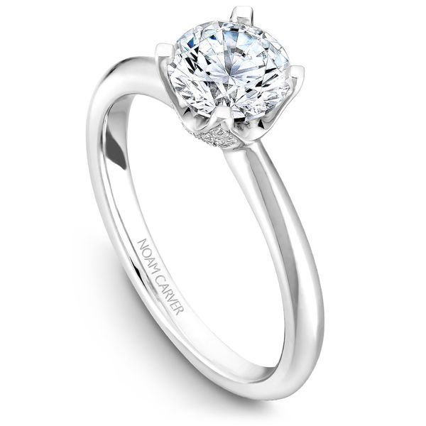 White Gold Engagement Ring With A Round Centerpiece And 32 Diamonds. Image 4 Barron's Fine Jewelry Snellville, GA