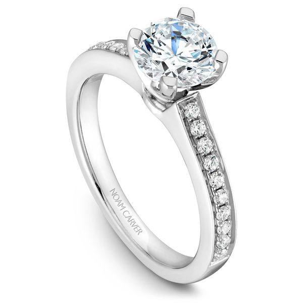 White Gold Engagement Ring With 20 Diamonds. Image 4 Barron's Fine Jewelry Snellville, GA