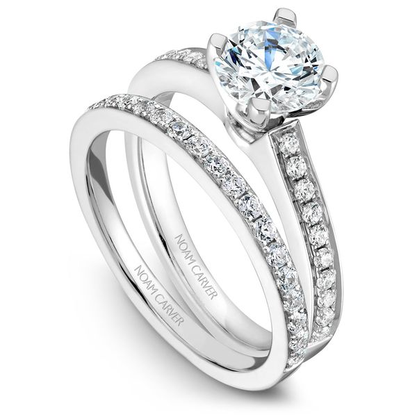 White Gold Engagement Ring With 20 Diamonds. Image 3 Barron's Fine Jewelry Snellville, GA