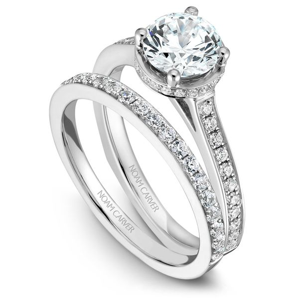 White Gold Engagement Ring With 42 Diamonds. Image 3 Barron's Fine Jewelry Snellville, GA