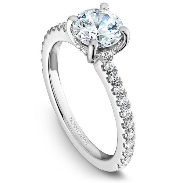 White Gold Engagement Ring With 34 Diamonds. Image 4 Barron's Fine Jewelry Snellville, GA