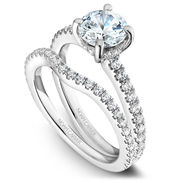 White Gold Engagement Ring With 34 Diamonds. Image 3 Barron's Fine Jewelry Snellville, GA