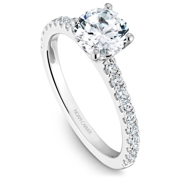 White Gold Engagement Ring With 20 Diamonds. Image 2 Barron's Fine Jewelry Snellville, GA