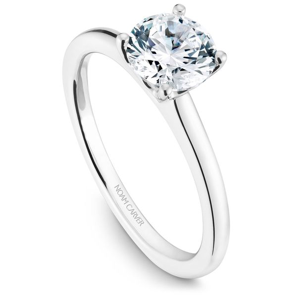 White Gold Engagement Ring With A Round Centerpiece. Image 2 Barron's Fine Jewelry Snellville, GA