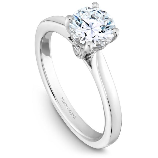 White Gold Engagement Ring With 6 Diamonds. Image 2 Barron's Fine Jewelry Snellville, GA
