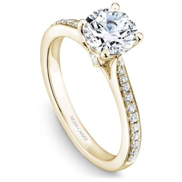 Yellow Gold Engagement Ring With 26 Diamonds. Image 2 Barron's Fine Jewelry Snellville, GA