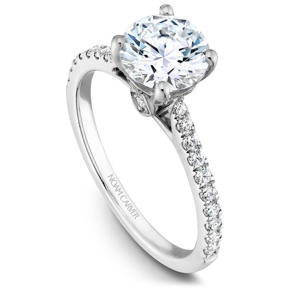 White Gold Engagement Ring With 26 Diamonds. Image 2 Barron's Fine Jewelry Snellville, GA