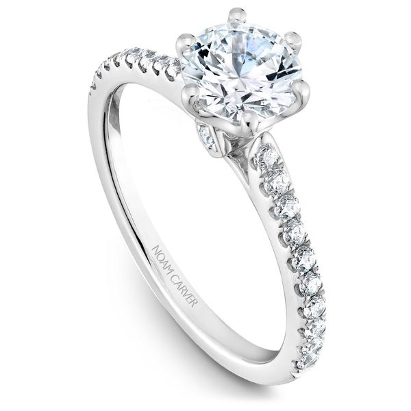 White Gold Engagement Ring With 22 Diamonds. Image 2 Barron's Fine Jewelry Snellville, GA