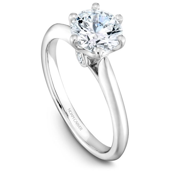 White Gold Engagement Ring With 2 Diamonds. Image 2 Barron's Fine Jewelry Snellville, GA